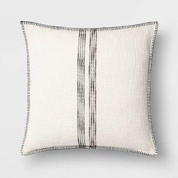 Oversize Square Woven Stripe Pillow - Threshold™   Target