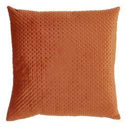 Poly Filled Pinsonic Velvet Pillow Rust - Saro Lifestyle   Target