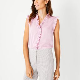 Ruffle Front Shell   Ann Taylor (US)