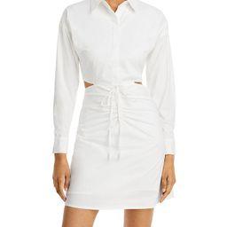 Cutout Ruched Shirt Dress   Bloomingdale's (US)