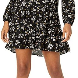 Amazon Brand - Goodthreads Women's Fluid Twill Relaxed Fit Notch Neck Tiered Mini Dress | Amazon (US)