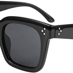 FEISEDY Vintage Women Butterfly Sunglasses Designer Luxury Square Gradient Sun Glasses Shades B24... | Amazon (US)