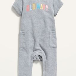 Logo-Graphic French Terry One-Piece for Baby   Old Navy (US)
