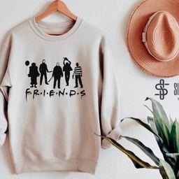 Friends Halloween Sweatshirt, Horror Squad Shirt, Halloween Horror Movie Killers, Scary Friends S...   Etsy (US)