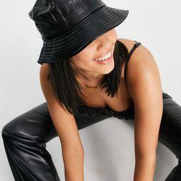 Ego bucket hat in black patent | ASOS (Global)