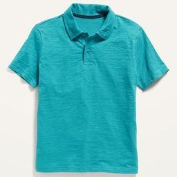 Slub-Knit Jersey Polo Shirt for Boys | Old Navy (US)