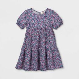 Girls' Tiered Floral Dress - Cat & Jack™ | Target
