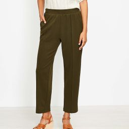 Pintucked Tapered Pants in Crepe | LOFT