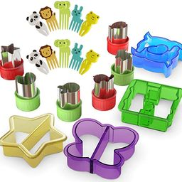 Sandwich Cutters for Kids with Cute Food Picks, 20 pc. Set, Animal Cutouts for Cookies, PBJ Sandw...   Amazon (US)