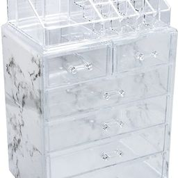 Sorbus Luxe Marble Cosmetic Makeup and Jewelry Storage Case Display - Spacious Design - Great for...   Amazon (US)