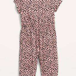 Short-Sleeve Jersey Jumpsuit for Baby | Old Navy (US)