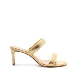 Aneli Embossed Metallic Leather Sandal   Schutz Shoes (US)