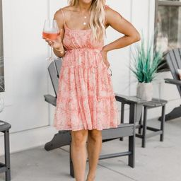 Take Notice Pink Floral Dress FINAL SALE | The Pink Lily Boutique