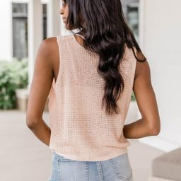 Lose Interest Orange Cropped Sweater Tank FINAL SALE | The Pink Lily Boutique