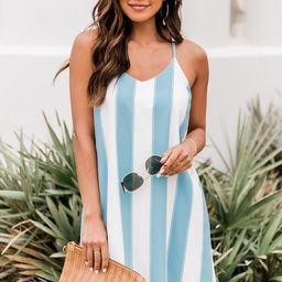Merry Go Round Love Blue/White Striped Shift Dress FINAL SALE | The Pink Lily Boutique