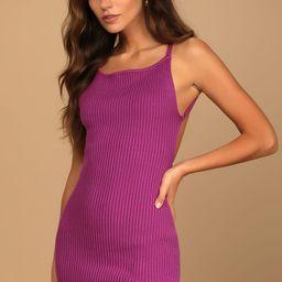 Called You Mine Magenta Ribbed Knit Backless Mini Dress   Lulus (US)