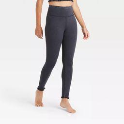 Women's High-Waisted 7/8 Leggings with Ruffle Hem - JoyLab™   Target