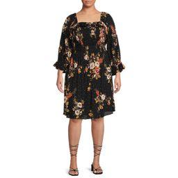 Romantic Gypsy - Romantic Gypsy Women's Plus Size Smocked Square Neck Dress - Walmart.com | Walmart (US)