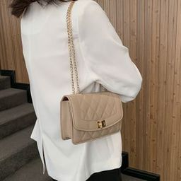 Perlin Quilted Chain Strap Crossbody Bag   YesStyle   YesStyle Global