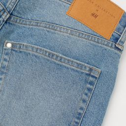 Brock Collection x H&M. 5-pocket shorts in washed, slightly stretchy cotton denim with distressed... | H&M (US)