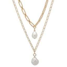 Worthington Simulated Pearl 21 Inch Curb Pendant Necklace | JCPenney