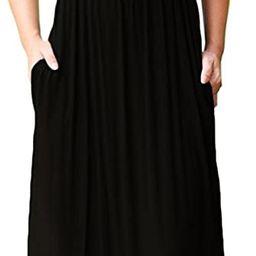 GRECERELLE Women's Sleeveless Racerback Loose Plain Maxi Dresses Casual Long Dresses with Pockets   Amazon (US)