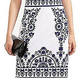 Floerns Women's Porcelain Print Work Sheath Business Pencil Dress | Amazon (US)