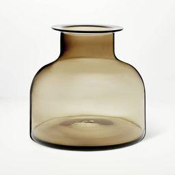 "9"" x 10"" Smoked Glass Vase - Threshold™ designed with Studio McGee | Target"