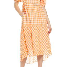 Gingham Print Midi Dress | Nordstrom