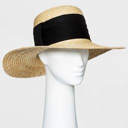 Women's Straw Boater Hat - A New Day™   Target