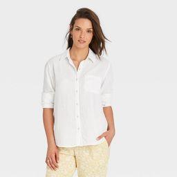 Women's Long Sleeve Gauze Button-Down Shirt - Universal Thread™   Target