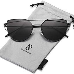 SOJOS Cat Eye Sunglasses for Women Fashion Designer Style Mirrored Lenses SJ1001   Amazon (US)