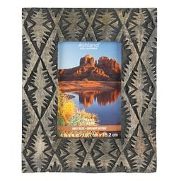 """Carved Wood 4"""" x 6"""" Table Top Frame Simply Rustic by Ashland® 