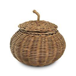 "6.7"" Pumpkin Rattan Basket by Ashland® | Michaels Stores"