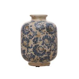 "6"" Blue & White Floral Vase by Ashland® | Michaels Stores"