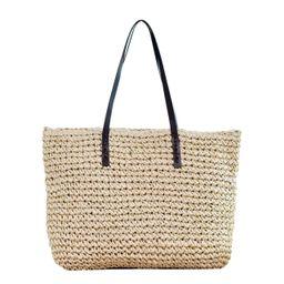 Ayliss Women Straw Woven Tote Large Beach Handmade Weaving Shoulder Bag Handbag | Amazon (US)