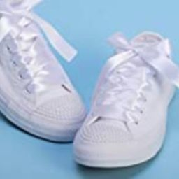 White Pearl Wedding Sneakers For Bride, Lace Bridal Trainers, Awesome Bride Tennis Shoes   Amazon (US)