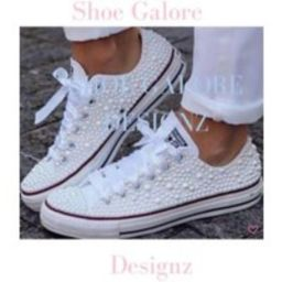 Wedding Converse, Shoes For Bride, Bridal Shoes, Sneakers, Sneakers Wedding, Bridal Trainers, Chucks   Etsy (US)