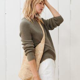 Cotton Fisherman Sweater - Eucalyptus | Jenni Kayne | Jenni Kayne