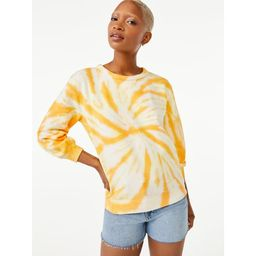 Free Assembly Women's Tie Dye Crewneck Sweatshirt   Walmart (US)