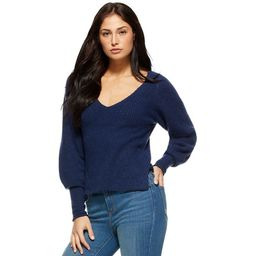 Sofia Jeans by Sofia Vergara Women's Sweater with Blouson Sleeves   Walmart (US)