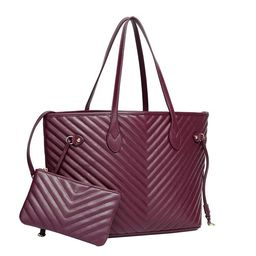 Daisy Rose Tote Shoulder Bag and Matching Clutch - PU Vegan Leather Handbag for Travel Work and S... | Walmart (US)