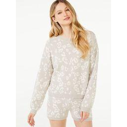 Scoop Women's Leopard Print Pullover Sweater | Walmart (US)