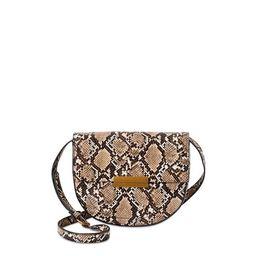 Scoop Women's Faux Leather Snake Crossbody Saddle Bag | Walmart (US)