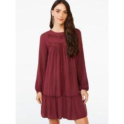Scoop Women's Blouson Sleeve Dress | Walmart (US)