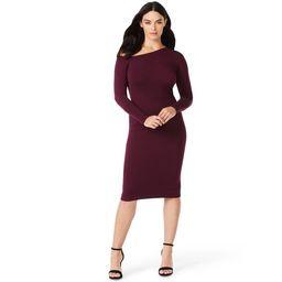 Sofia Jeans by Sofia Vergara Women's One-Shoulder Sweater Dress | Walmart (US)