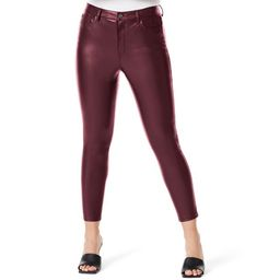 Sofia Jeans by Sofia Vergara Women's Rosa Curvy Super High-Rise Faux Leather Skinny Jeans | Walmart (US)