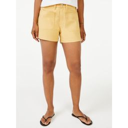 Free Assembly Women's Retro Patch Pocket Shorts   Walmart (US)