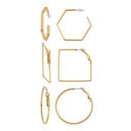 Scoop Womens Brass Yellow Gold-Plated Chain Link Hoop Earring | Walmart (US)