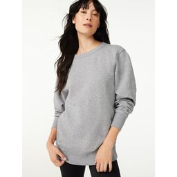 Free Assembly Women's Tunic Fleece Sweatshirt with Long Sleeves | Walmart (US)